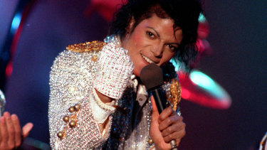 Michael Jackson performs in Los Angeles in 1984.