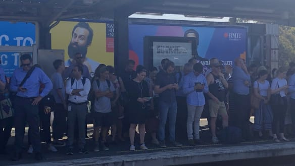 Brand new equipment caused Monday peak-hour train chaos