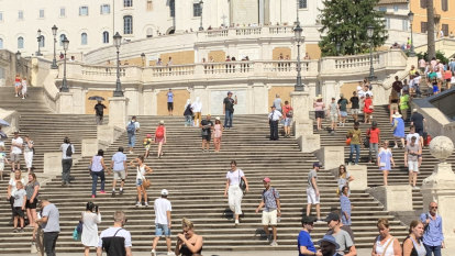 Beware of sitting on the Spanish Steps