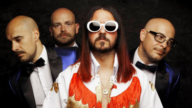 Paul Kell channels Elvis out front of Nirvana tribute band Elvana.