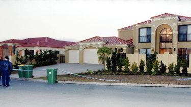 The luxury Benowa Waters home where Mr Bernovski was shot.