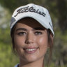 Teen duo trade textbooks for golf clubs at Canberra Classic