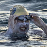 A cancer survivor's historic swim: Four non-stop English Channel crossings