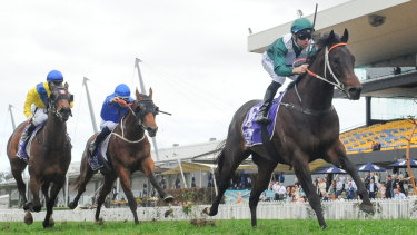 Exceedance shows a clean pair of heels to his rivals in the San Domenico Stakes at Rosehill.