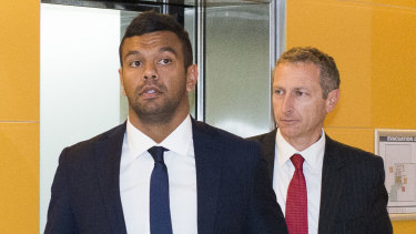 Week to forget: Wallaby Kurtley Beale was sighted in two videos involving white powder.