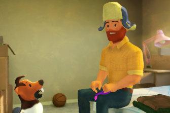 Greg and his dog Jim.