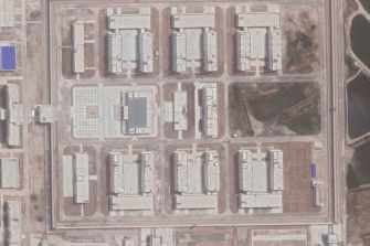 Satellite image of a detention camp in Xinjiang, China, in September 2020.
