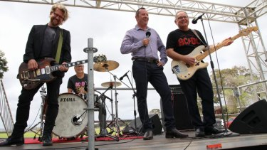 Premier Mark McGowan andCulture and the Arts Minister David Templeman promote Perth Festival's Highway to Hell.