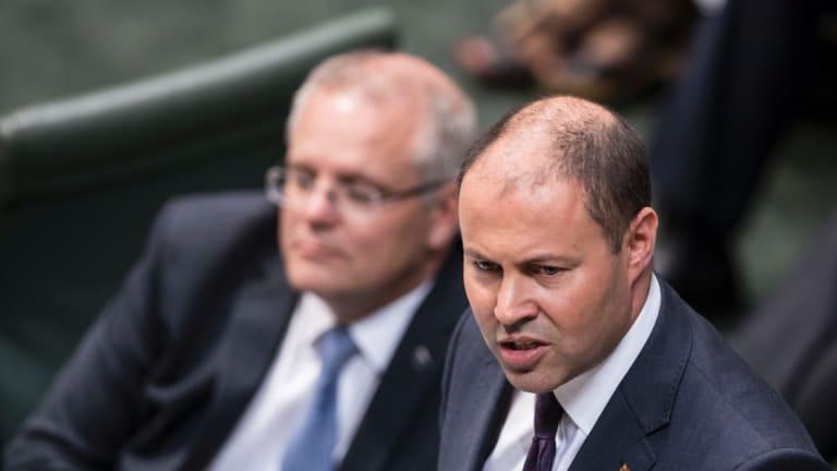 Prime Minister Scott Morrison and Treasurer Josh Frydenberg.