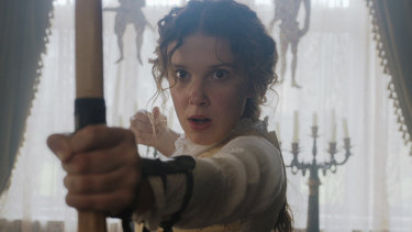 Millie Bobby Brown in Enola Holmes.