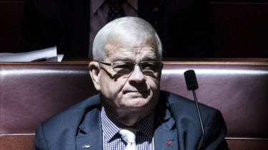 Under the expenses spotlight: former United Australia Party senator Brian Burston.
