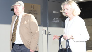 Sarah's parents Don and Carol Spiers arrive at court.