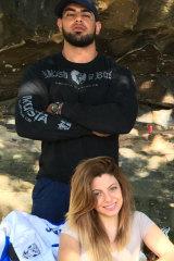 Sam Kanj with his wife Sarah Sayour (Michael and Fadi Ibrahim's niece).