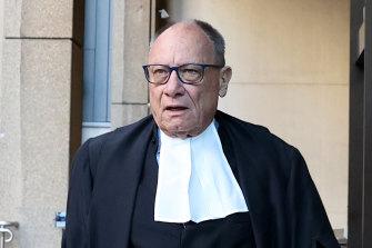 Ben Roberts-Smith's barrister Bruce McClintock.