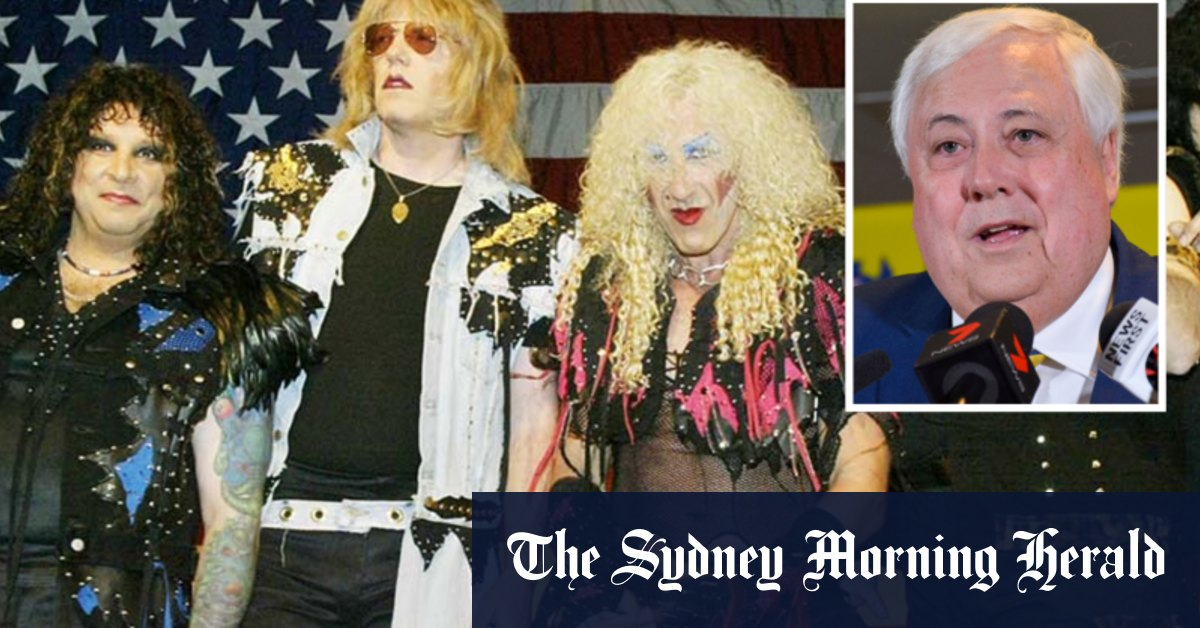 Clive Palmer claimed he was 'composer' of lyrics in Twisted Sister row – Sydney Morning Herald