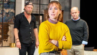 Jay Conway as Jeremy Waters, Ruth Davenport as Harriet Gordon-Anderson and  Leigh Carver as Brian Meegan.