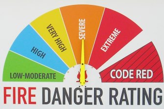 The first danger rating is Code Red across north and north-west Victoria.