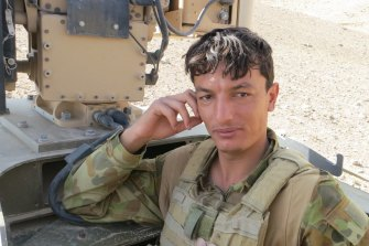 Ezatullah Rahimi, who served with Australian troops in Afghanistan as an interpreter, fears for his family.