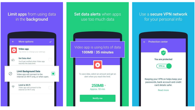 Onavo & # 39; s app offers a free VPN and mobile data manager, but sends a lot of data back to Facebook.