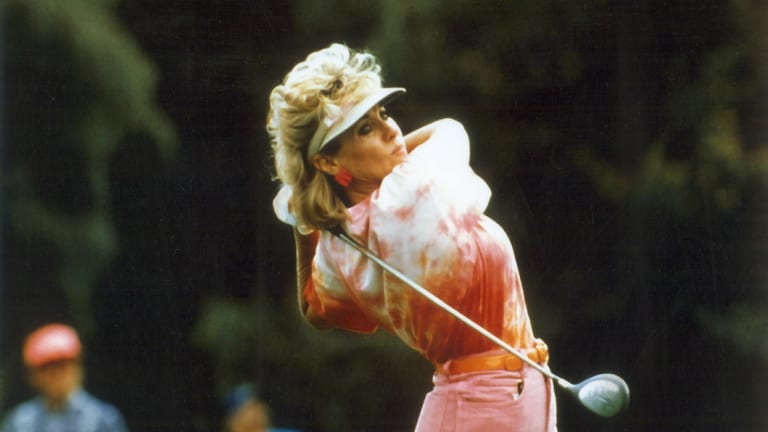 Hall of Fame: Jan Stephenson, seen here during her playing days, once had a relationship with Donald Trump.