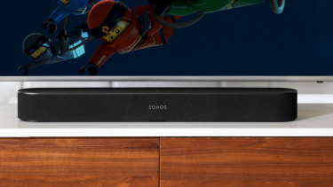 The Sonos Beam is smaller and less expensive than the company's Playbar, but it has a lot of smarts built in.