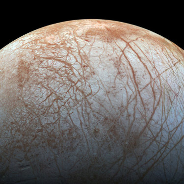 Jupiter's moon Europa has an ocean beneath its icy surface that scientists hope to explore soon in their search for life.