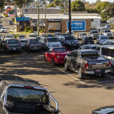 Ringwood railway station car park in suburban Melbourne. One of the projects promised funding in 2019, it is still to be upgraded.