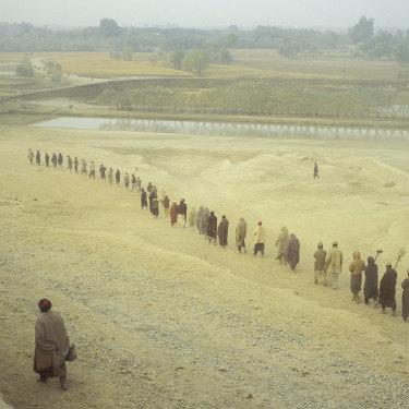 Taliban POWs, Yangi Qala district, Northern Afghanistan, 1998.
