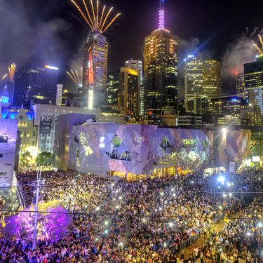 Melbourne fireworks, December 31, 2018.