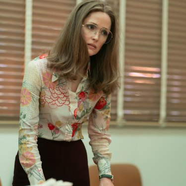 Byrne as Gloria Steinem in Mrs America.