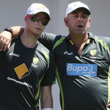 Smith and former Australian coach Darren Lehmann.