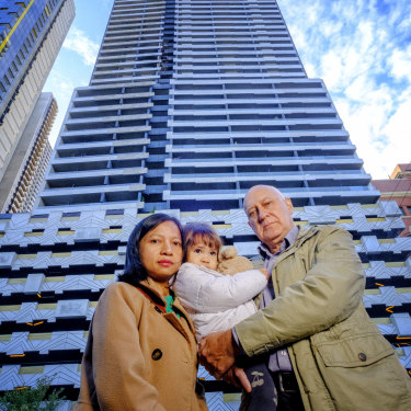 Peter Sek, his wife Jidapha Ruangcharoen and two-year-old daughter Jessica had their lives thrown into limbo for almost three weeks after a cladding fire hit Neo 200.