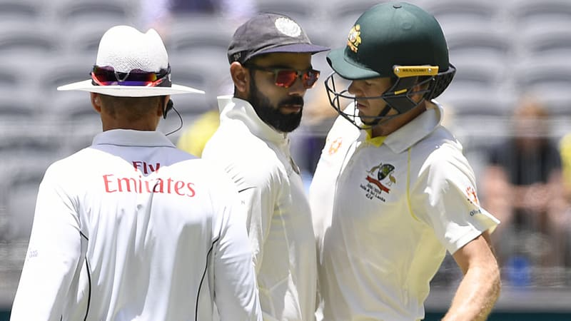 Image result for tim paine and kohli incident