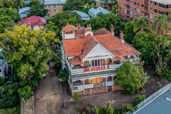 Brisbane's 119-year-old Lamb House at Kangaroo Point. Credit: Supplied - Savills.