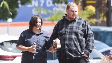 Kimberley Cramp and Alexander Trewin outside Wodonga court last month.