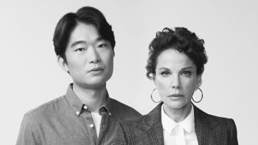 Charles Wu and Sigrid Thornton star in Sydney Theatre Company's The Lifespan of a Fact.