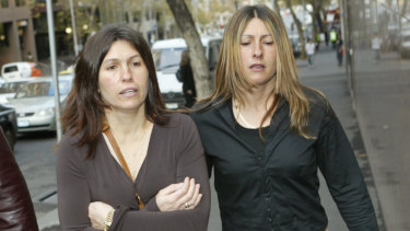 Roberta Williams (L) and Michelle Kaye Mercieca in 2004.