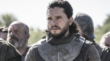 Jon Snow (Kit Harington) prepares to face off against Cersei Lannister (Lena Headey) at King's Landing.