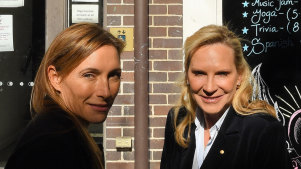 Claudia Karvan and Skye Leckie join forces to support the Wayside Chapel's Winter Appeal for $1.2 million to provide vital services and support for the homeless.