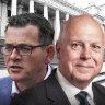 Premier Daniel Andrews and Treasurer Tim Pallas.