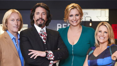 Host Johanna Griggs with former House Rules judge Drew Heath and current judges Laurence Llewelyn-Bowen and Wendy Moore.