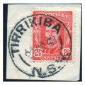 Tirrikiba postmark on a stamp.