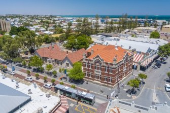 The site is just across the road from Fremantle Markets on the Cappuccino Strip.