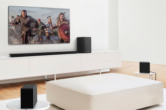 The massive LG SN11RG is not for tiny TV units.