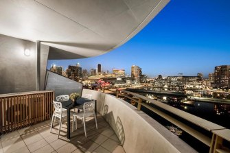 Former Transclean employee Ms Tsakopoulos received ,000 for a deposit on this Docklands apartment.