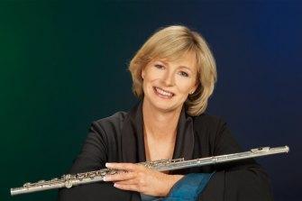 Flautist Virginia Taylor.