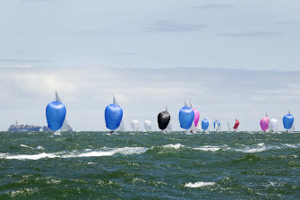 This year's Etchells Australian Championship was raced in all conditions, from serene to choppy.