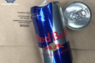 In some cases drink cans have been tampered with to conceal drugs, police allege.