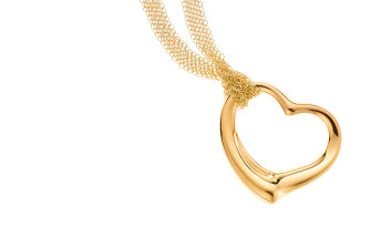 Peretti's  much imitated open heart pendant for Tiffany.
