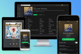 Spotify works across all your devices, or sometimes other peoples' as well.